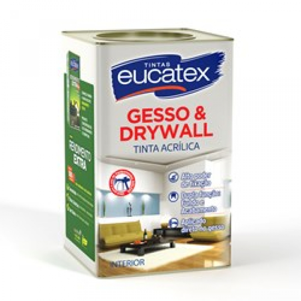 Tinta Gesso & Drywall Eucatex