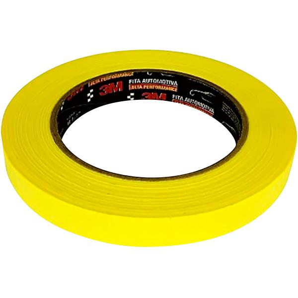 Fita Crepe Alta Performance 3M Amarela