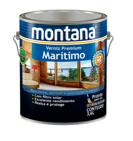 Verniz Marítimo Premium Montana 3,6L