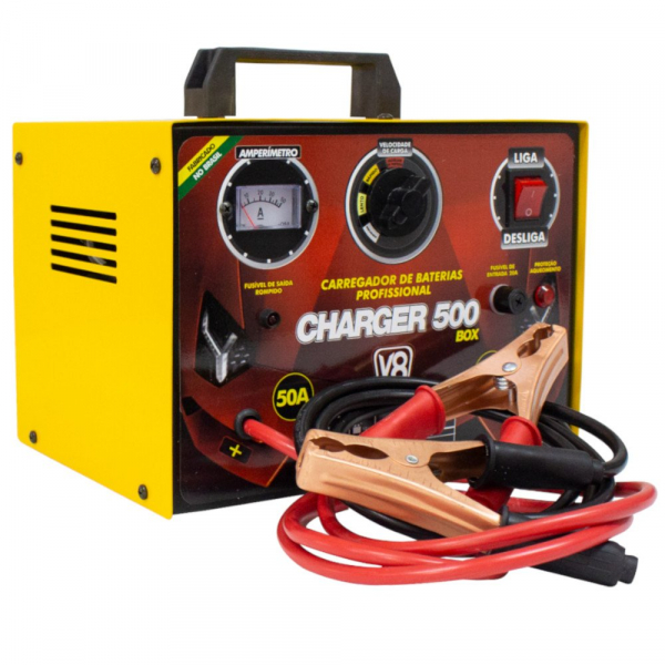 CARREGADOR CHARGER 100/127/220V V8 50 AMPERES