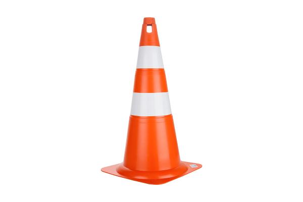 Cone Rigido 70cm Laranja/Branco