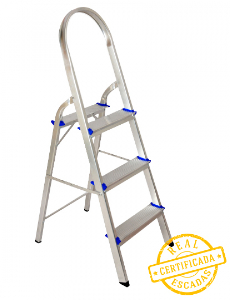 Escada Aluminio Real 3 degraus